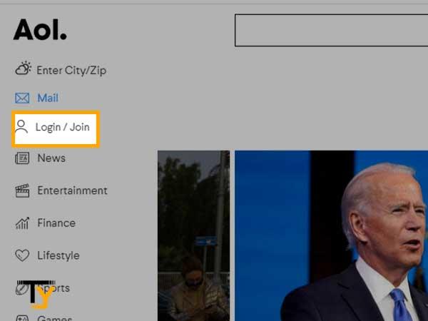 Página de inicio de sesión de AOL