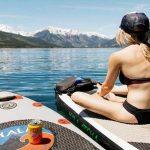 Paddleboarding de rutina previa al entrenamiento