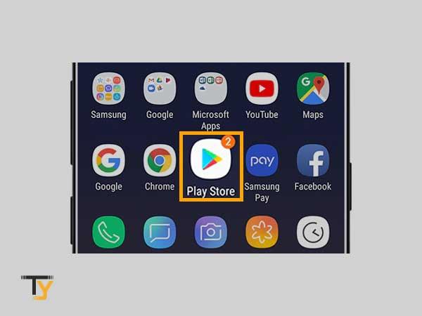 Abra Google Play Store en el dispositivo Android