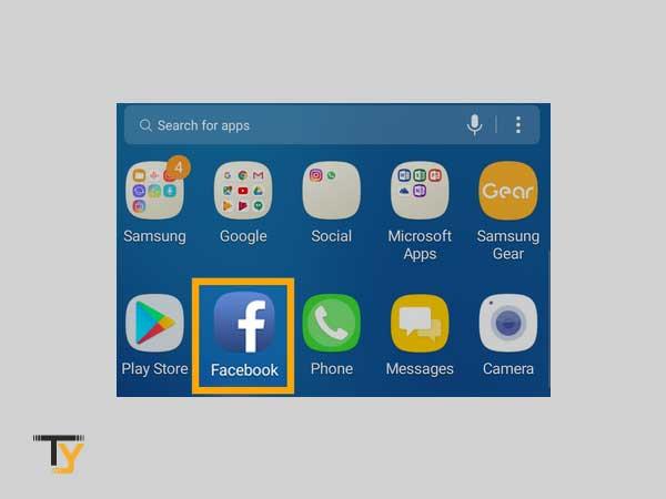 Abra la aplicación de Facebook