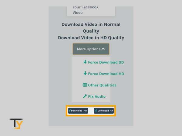 seleccione la calidad del video