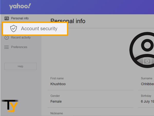 Seguridad de la cuenta